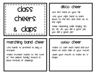 More classroom cheers and claps