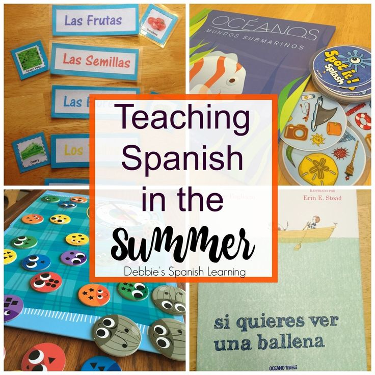 {Affiliate links used.}     Summer is rapidly approaching. There is a plethora of ideas, books, and resources out there to teach Spanish....