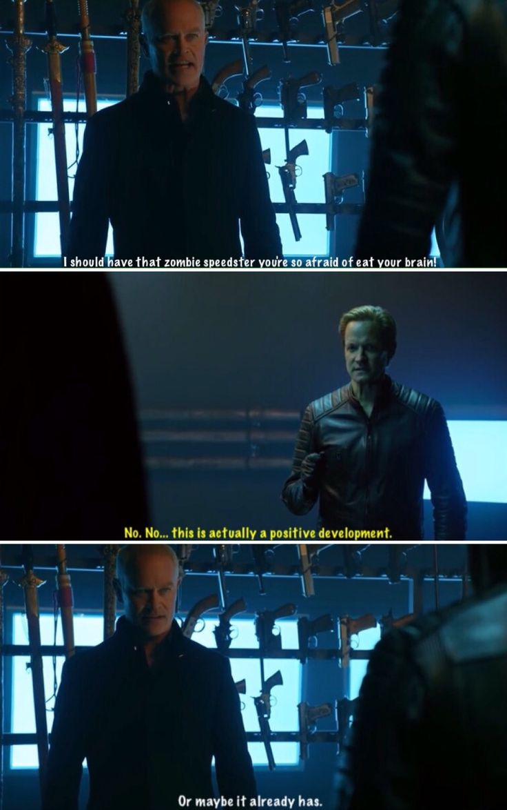 """""""I should have that zombie speedster you're so afraid of eat your brain!"""" - Damien and Eobard #LegendsOfTomorrow"""