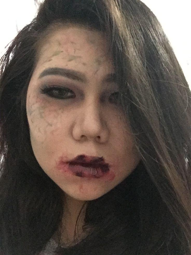 Halloween/zombie/makeup/asian/monolid