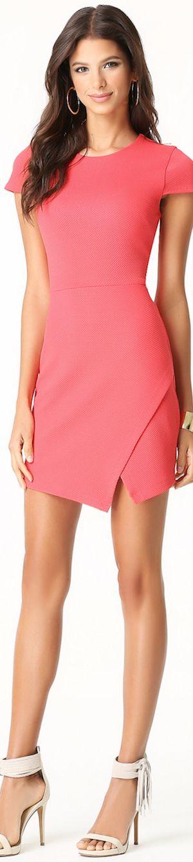 Short #coral summer #dress. women fashion @roressclothes closet ideas