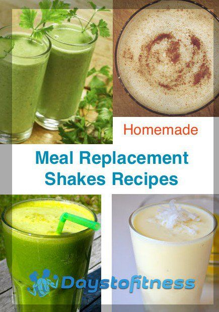 homemade MEal replacement shakes recipes by days to fitness