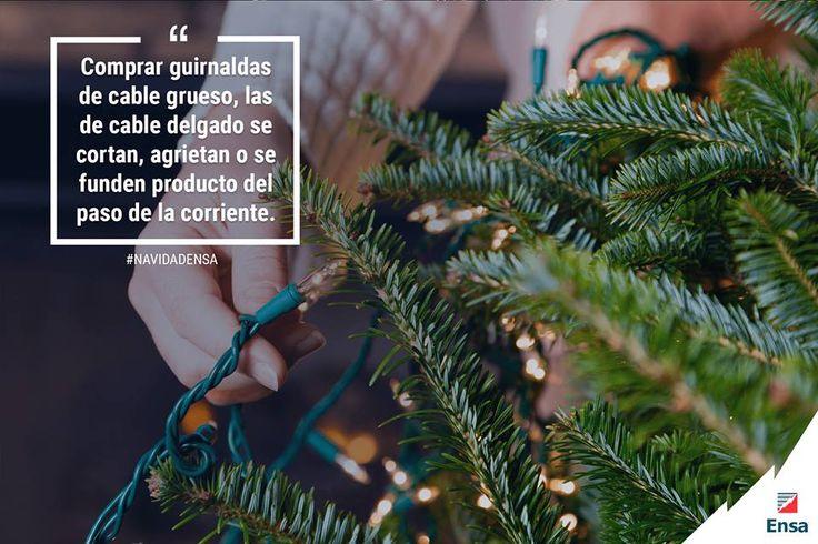 Al usar las mismas guirnaldas del año anterior, asegurarse que los cables no tengan cortes ni fisuras. En caso contrario, desecharlas. #NavidadEnsa #EnsaTePreviene