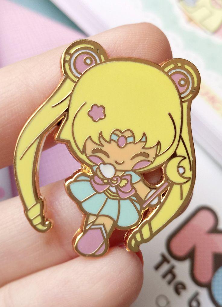 Enamel pin Chic Kawaii sailor moon magical girl pastel pins
