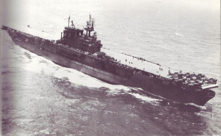 USS Enterprise (CV-6) during raids on Palau, March-April 1944.