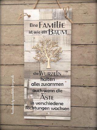 Familie ist wie ein Baum (XXL) | Zitate und Sprüche | Holzschilder ...