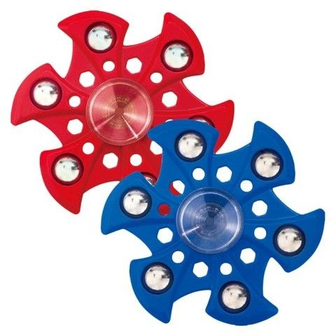 Excell Fidget Spinner Wild Premium Super Nova 6 Ball 2 Pack - Red & Blue