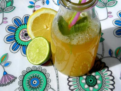 zadanie - gotowanie: Lemoniada cytrusowa z sokiem brzozowym.