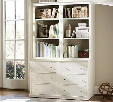 Logan Modular Bookcase with Drawers #potterybarn