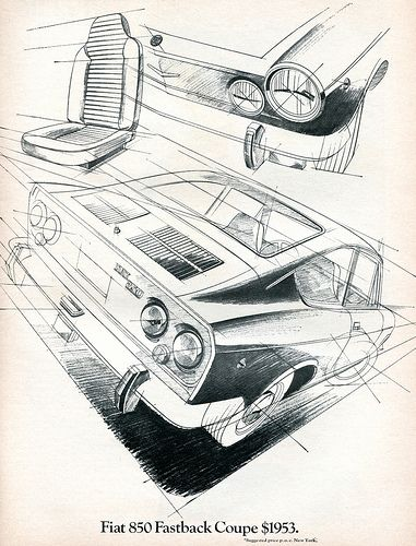 1969 Fiat 850 Fastback Coupe Advertising Road & Track June 1969