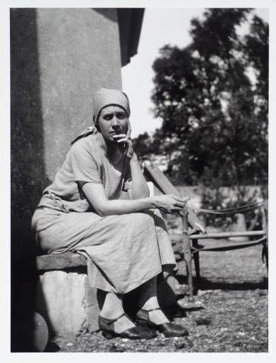 Vanessa Bell, artist, sister of Virginia Woolf.                                                                                                                                                                                 Plus