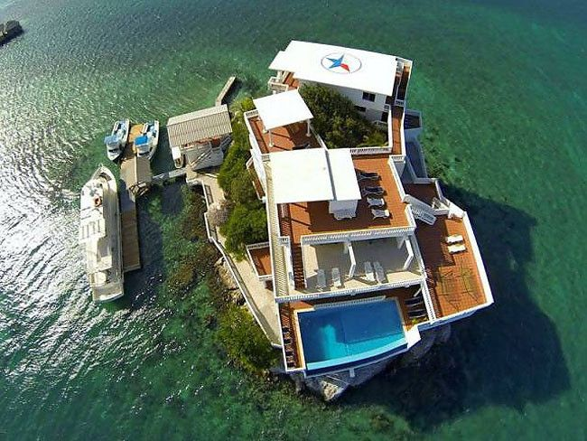 Dunbar Rock, una roca en en Caribe convertida el hotel de lujo.