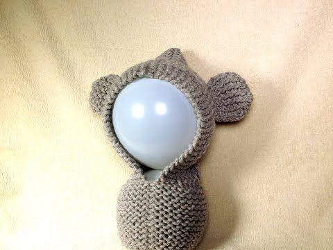 Loom Knit - DIY Tutorial on How to Loom Knit a Teddy Bear Ear Hood  - YouTube video by Tuteate.
