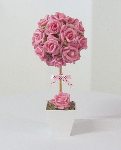 Topiária de Rosas e Fita com Poás - G