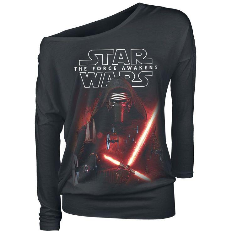 Star Wars Tričko s dlhým rukávom -Episode 7 - The Force Awakens - Force Of Kylo Ren- -- Kúpiť teraz v EMP -- Viac Fan merch Tričká s dlhým rukávom dostupných online - Najlepšie ceny!