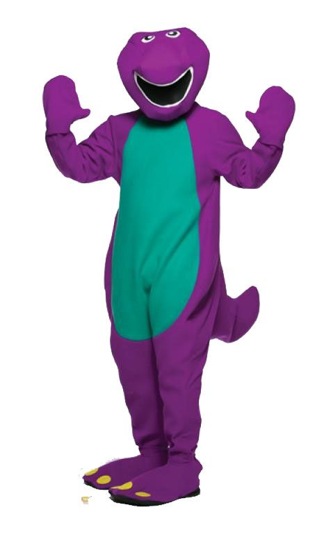 Barney Adult Costume Barney Adult Costume Transform Into Yourfavorite  Purple Dinosaur! Purple Jumpsuit With Tail And Green Tummy, Open Faced  Headpiece,