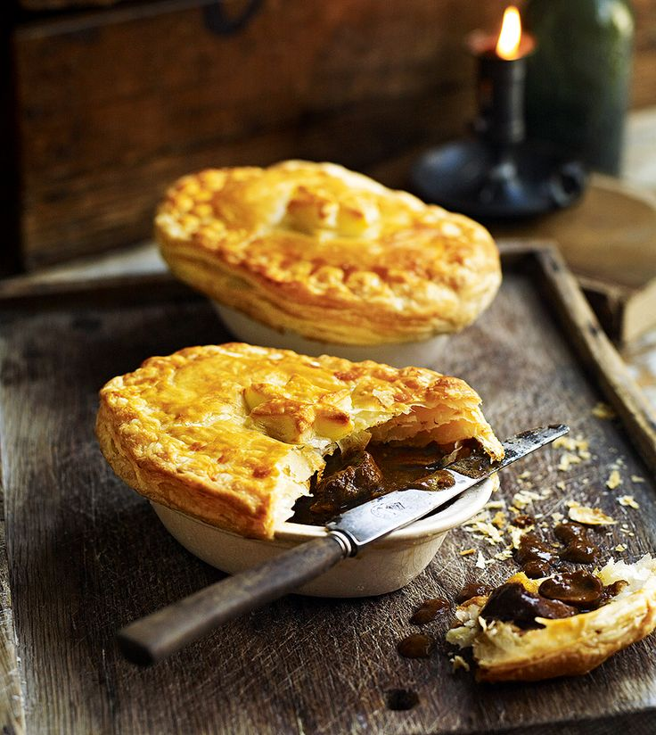 Try Debbie Major's twist on the classic beef and brown ale pie, chock full of button and porcini mushrooms and topped with all-butter puff pastry.