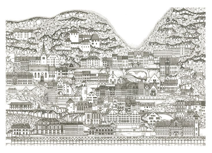 Gallery of These Delicate Illustrations Turn Images of Urban Density into Art - 4