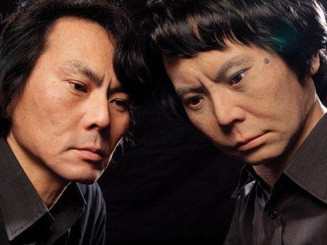 Hiroshi Ishiguro and his android twin: Geminoid HI-1