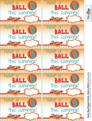 This is a picture of Agile Have a Ball This Summer Printable