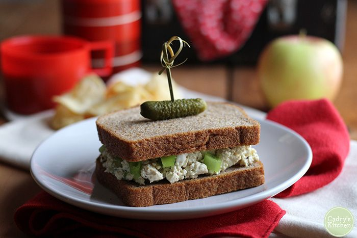 Vegan egg salad sandwiches are what I make when I was supposed to be out the door 10 minutes ago. The ingredient list is small, and no stove is required.