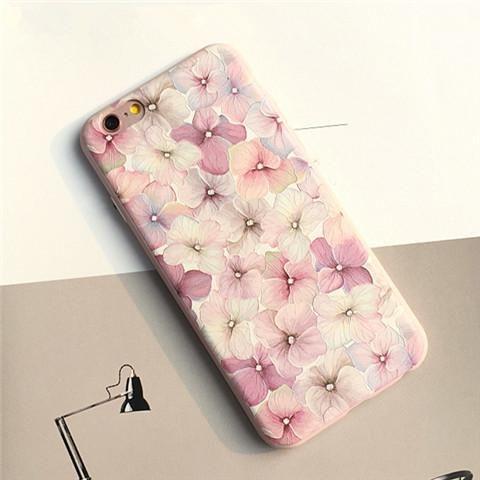 ブランド ソフトケース iPhone8/7s/7/6s/6 携帯カバー シリコン製 iphone7 plus/6 plus アイフォン ピンク 花 綺麗 女子力アップ 浮き彫り