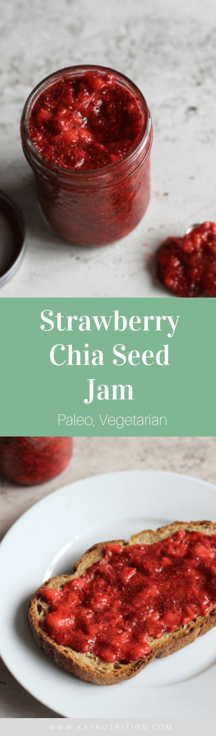 This Strawberry Chia Seed Jam is incredibly easy and even more delicious! Naturally sweetened with fruit, it is a healthy way to enjoy this simple spread.
