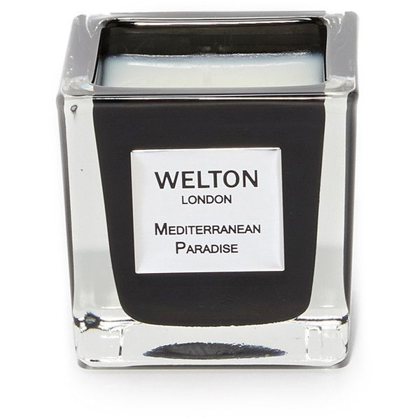 Welton London Mediterranean Paradise Candle ($90) ❤ liked on Polyvore featuring home, home decor, candles & candleholders, mediterranean home decor and paradise candles