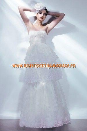 Bari Jay White Robe de Mariée - Style 59067