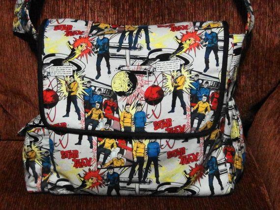 Star Trek Messenger Diaper Bag on Etsy