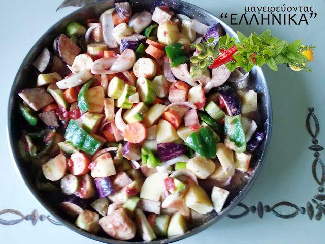 Συνταγή για το αγαπημένο Μπριάμ  ! Λέγεται και σοφεγάδο, τουρλού, συμπεθεριό ή, στα γαλλικά, ρατατούιγ. Πρόκειται όμως για το ίδιο  καλοκαιρινό φαγητό της Μεσογείου που τρώγεται σε διάφορες παραλλαγές από τόπο σε τόπο.