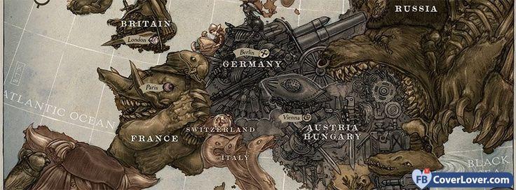European Map - cover photos for Facebook - Facebook cover photos - Facebook cover photo - cool images for Facebook profile - Facebook Covers - FBcoverlover.com/maker
