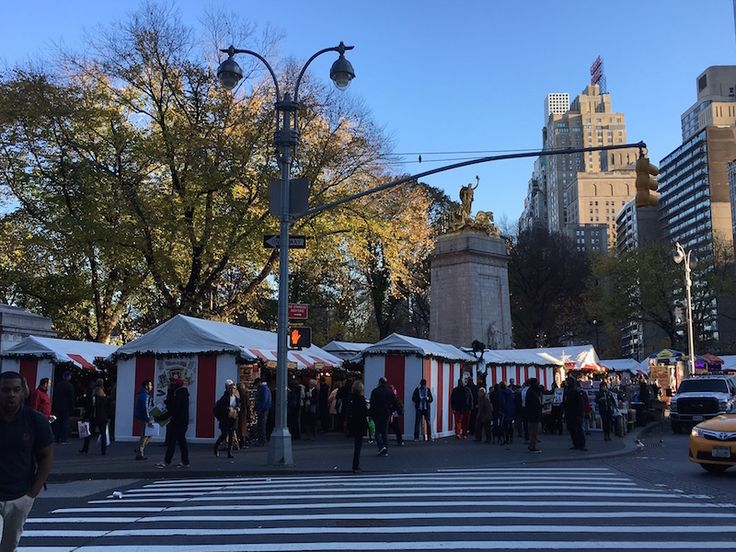 Holiday markets are one of the best free things to do in NYC in the winter.