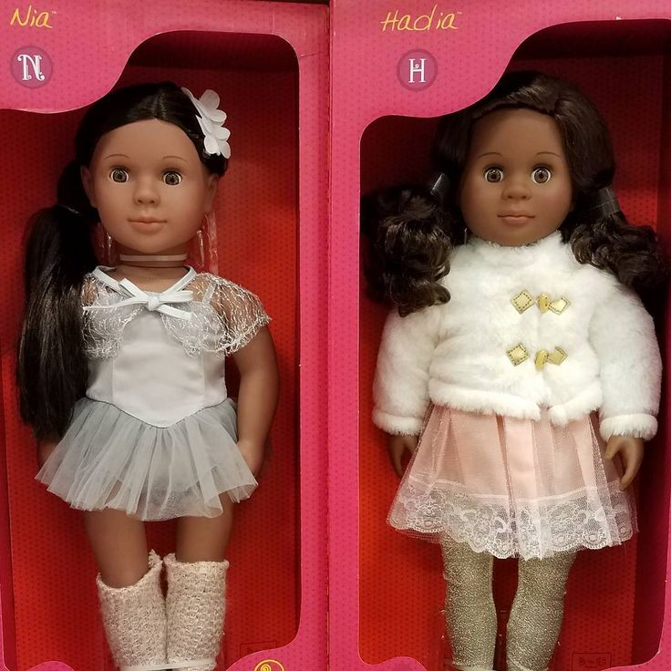 "Target Our Generation Brand, OMG!!!!!!!Nia is giving Center  Stage realness and Hadia is serving Veruca Salt lqqks. like I'm p sure she's about to say, ""yes I already have 3 ponies, Daddy, but I don't have *that* pony. Buy me that pony, Daddy!"" 💖💖💖 #OurGenerationDolls #OGNia #OGHadia #DollsOfColor #BlackDollsMatter #BlackDolls"
