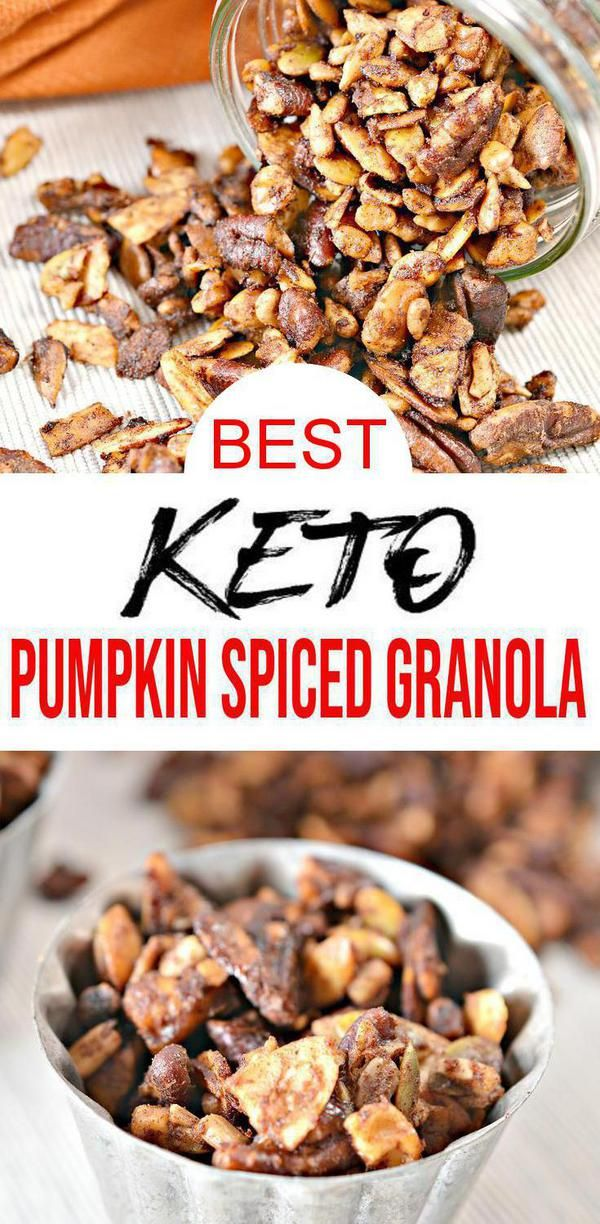 Check Out This Keto Pumpkin Granola Easy Low Carb Recipes For The Best Low Carb Keto Crunchy Pump Pumpkin Spice Granola Keto Granola Grain Free Granola Recipe