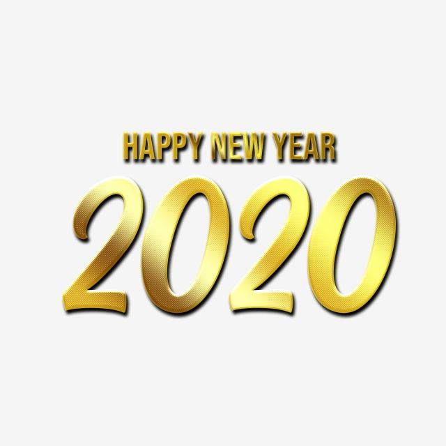 Happy New Year 2020 Text In Elegant Golden Luxurious Style Effect Free Png Happy New Year Vector Happy New Year Happy New Year 2020