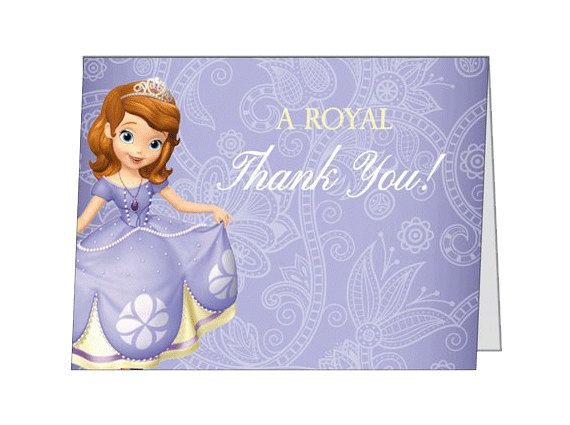 Thank You Cards From Your Little Princess Sofia The First 30 Cards