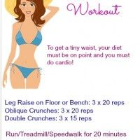 Tiny Waist Workout | Decembers Fitness Meal and Exercise Plans