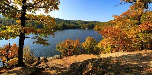 Podzim na přehradě.