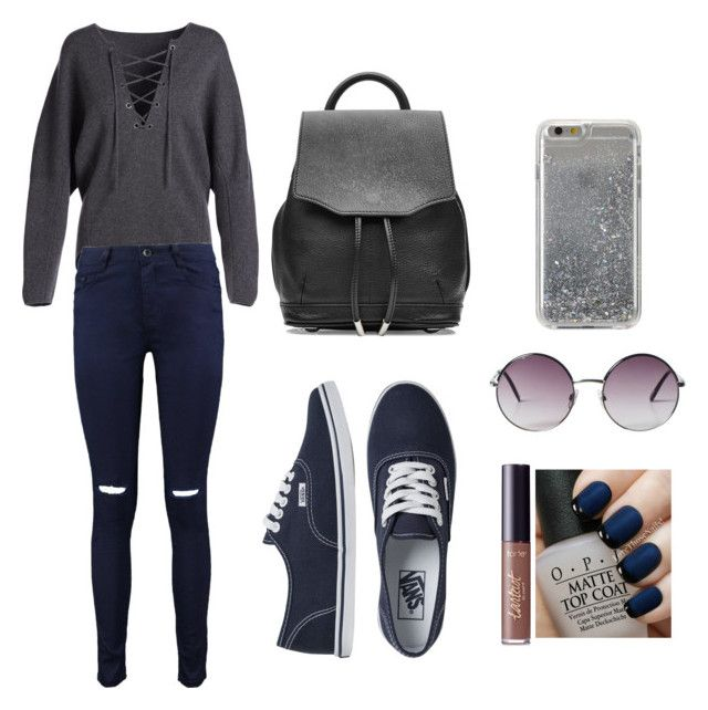 """Grey love"" by hemuliini on Polyvore featuring Vince, Boohoo, Vans, rag & bone, Agent 18, Monki, OPI and tarte"