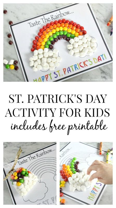 This fun St. Patrick's Day Activity for Kids is the perfect way to celebrate for the holiday! Taryn from Design, Dining, and Diapers shows us how we can use this fun free, printable!
