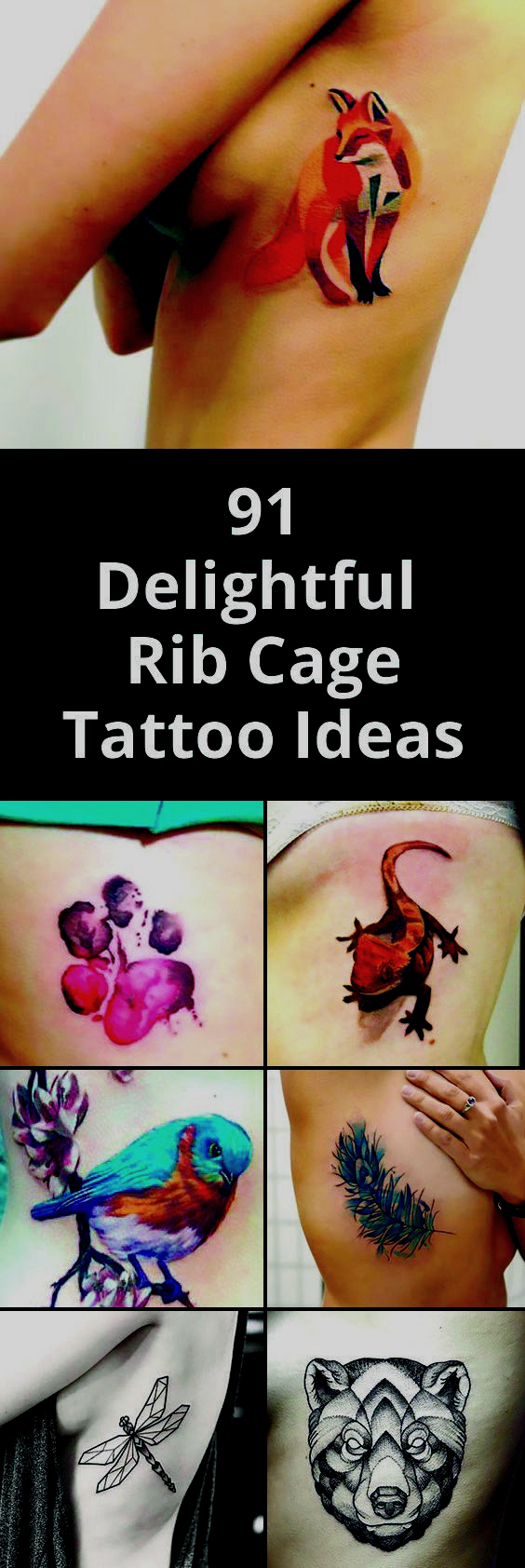 91 Delightful Rib Cage Tattoo Ideas