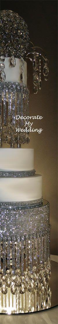 custom wedding cake stand  #wedding #cake www.BlueRainbowDesign.com: Crystals Wedding, Crystals Teardrop, Wedding Decor, Crystals Cakes, Custom Cakes, Amazing Cakes, Cupcakes Custom, Bling Cakes, Wedding Cakes Stands