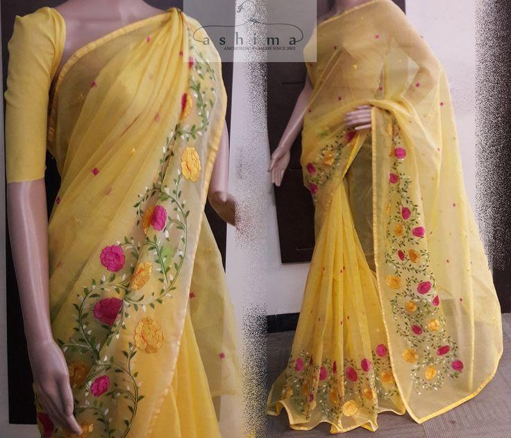 Code:2506175 - Price INR:1990/- , Embroidered Kota Saree.