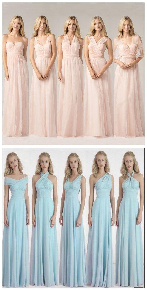 Chiffon Bridesmaid Dress,long Bride