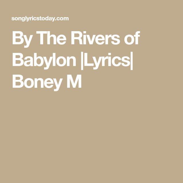 By The Rivers of Babylon  Lyrics  Boney M