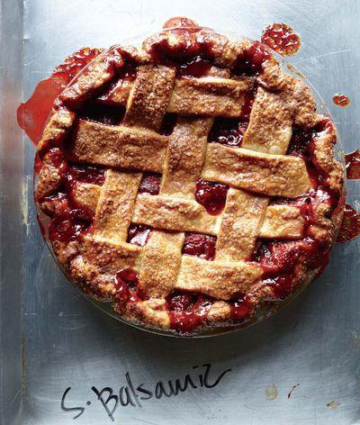 """The strawberry balsamic pie from """"The Four & Twenty Blackbirds Pie Book"""""""