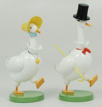 Wendt Kuhn Pair of Geese Set Germany Wooden Figurine | eBay