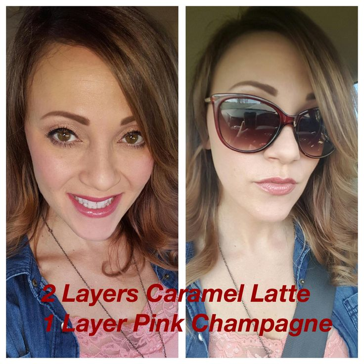 LipSense Caramel Latte and Pink Champagne Lip Color. You can layer to create unique looks. And the best part is this lip color is long lasting and smudgeproof. Visit Bonjour Beauty by Angie on Facebook for more looks.