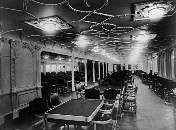 RMS Olympic First Class Dining Room Britanic Olympic